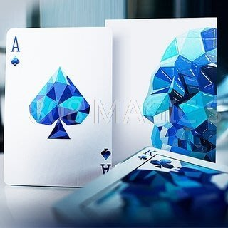 [808 MAGIC]魔術道具 Memento Mori Playing Cards 水晶骷髏 湛藍版