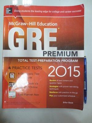 6980銤:C3-4cd☆2015年出版『GRE Premium』Geula《McGraw-Hill》