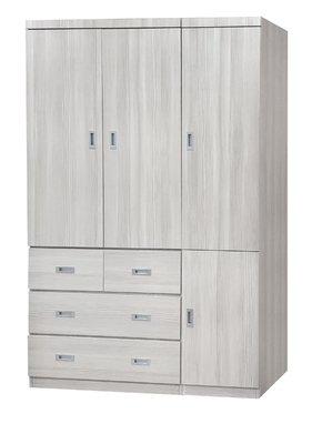 【南洋風休閒傢俱】精選時尚衣櫥 衣櫃 置物櫃 拉門櫃 造型櫃設計櫃-雪松4*7尺衣櫥 CY181-847