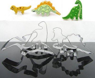 恐龍餅乾壓模 4PC套裝 不鏽鋼 不锈...