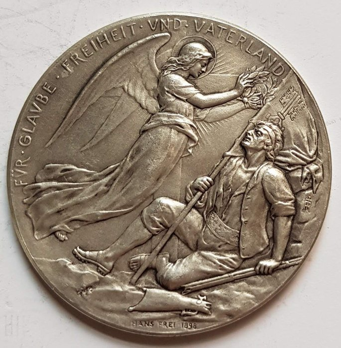 瑞士銀章1897 Swiss Independence of The Canton of Vaud Medal.