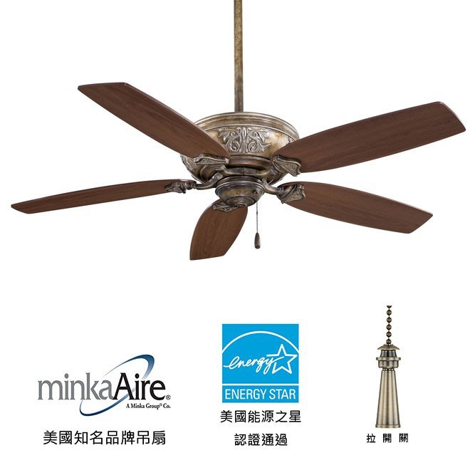 MinkaAire Classica 54英吋能源之星認證吊扇(F659-FB)法國米色 適用於110V電壓