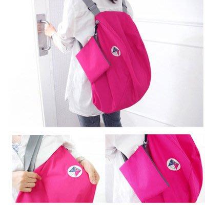 韓流新款 多功能雙肩包多功能可折疊斜挎包大容量旅行收納背包便攜式 單雙肩包 背包
