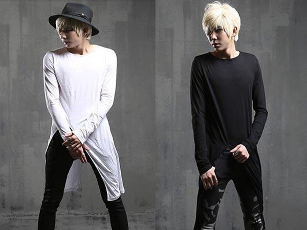 『潮范』新款特色長T恤韓版修身個性拉風演出長袖T恤素面T恤潮T棉質T型男素TNRB03688