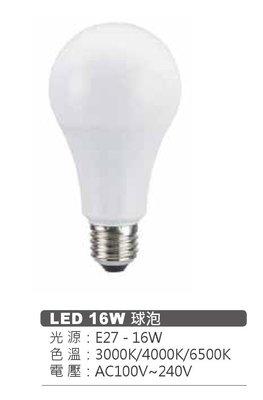 台北市長春路 MARCH LED 16瓦 16W E27 球泡 省電 有 4000K 白光 黃光