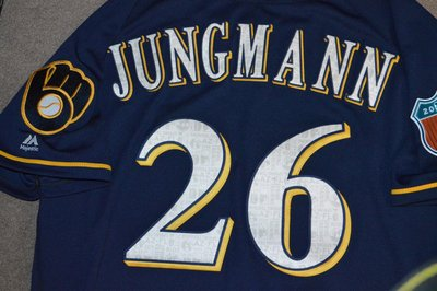 2016 MLB Milwaukee Brewers #26 Jungmann Game Issued Jersey
