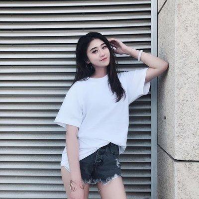 白色短袖t恤女純色純棉學生寬鬆韓版ul...