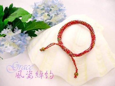 風姿綽約-風姿花傳手環(S9005) ~ 幸運五色線~ 純手工製作