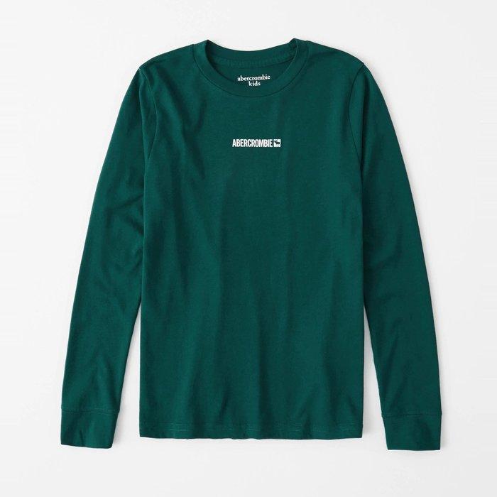 【abercrombie kids】【a&f】af男童款長袖T恤印小白字鹿深綠 F07191118-38