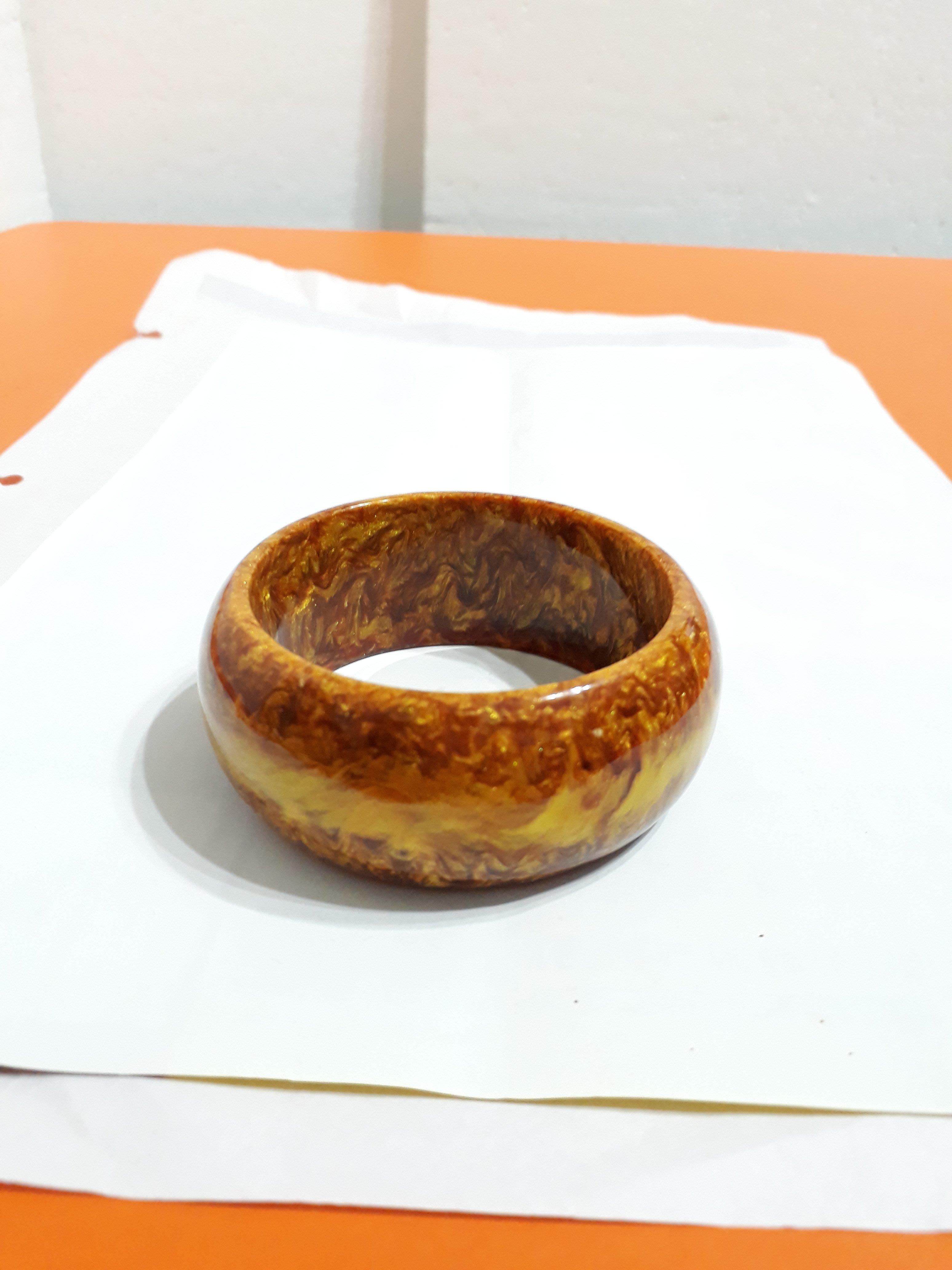 【九龍藝品】金海柳手鐲 ~ 版寬約30mm/內徑寬約61mm(19.5圍)【 1 】