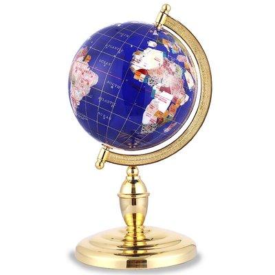 地球儀22cm歐式寶石地球儀擺件辦公室書房客廳招財裝飾開業慶典禮品哆啦A珍