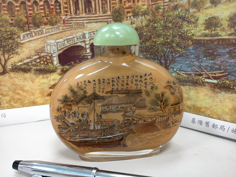 大世紀古董店 早期 玻璃內畫 鼻煙壺