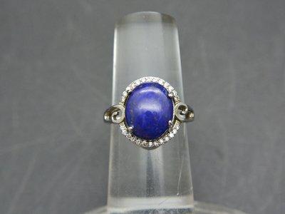 《青金石專區》《戒指》天然青金石Lapis lazuli 云紋 戒指 戒子 戒圈#12 (1577)