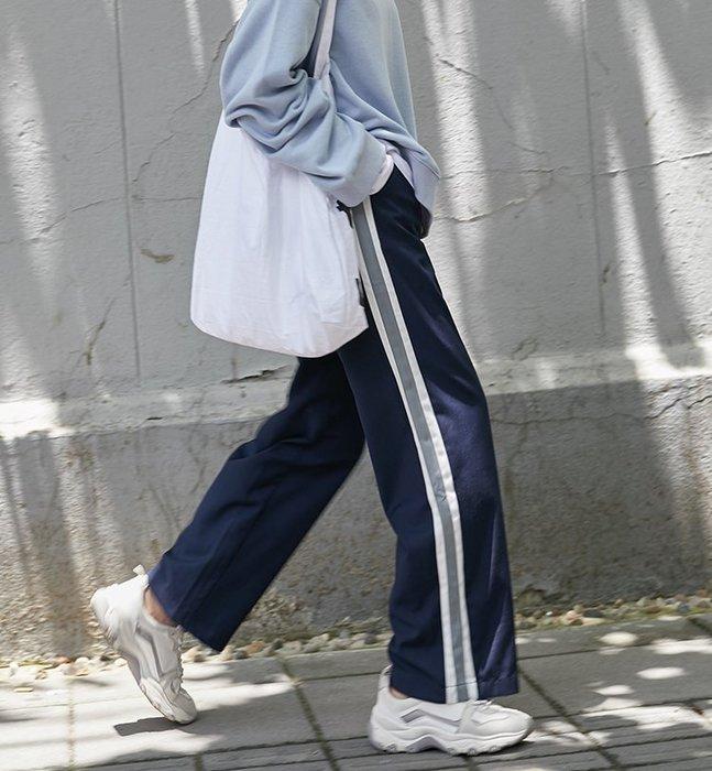 SeyeS  街頭個性時尚運動風滾邊寬褲