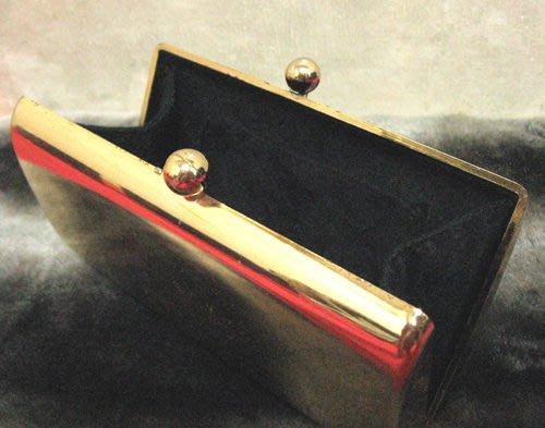 [狗肉貓]_老品古著_手拿鍍金硬盒錢包