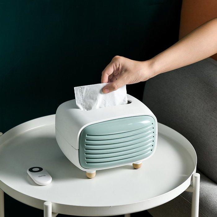 收音機造型面紙盒 竹炭紙巾盒 創意面紙盒 復古造型 附有竹炭 桌上收納 收納 居家收納【RS1128】