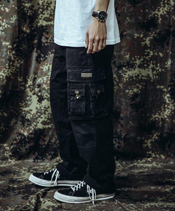 GHK - CargoPenter K18-Veteran 帆布多口袋工作褲 黑色-軍工裝 軍褲 上寬下窄 寬褲