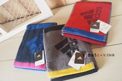 ˙TOMATO生活雜鋪˙日本進口雜貨adidas愛迪達三色拼接運動細長毛巾(現貨+預購)