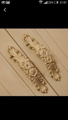 荳荳舖 歐式白金花朵型把手