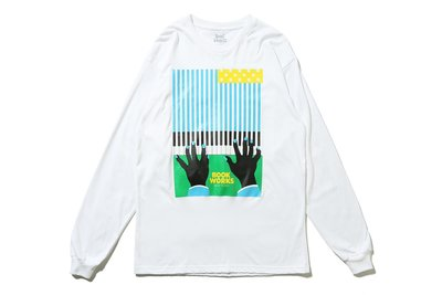 "[ LAB Taipei ] BOOK WORKS ""FLAG L/S TEE"" (White)"