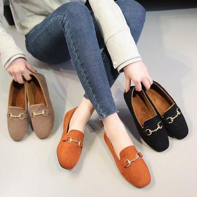 豆豆鞋復古一腳蹬懶人鞋駕車鞋舒適休閒鞋女鞋
