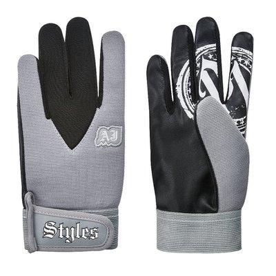 ☆阿Su倉庫☆WWE摔角 AJ Styles Grey Replica Gloves AJ最新款灰色手套 熱賣中