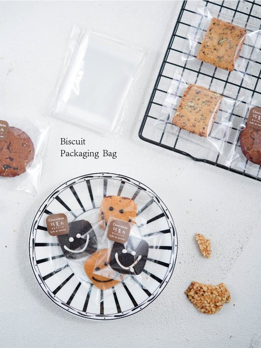 【berry_lin107營業中】全透明自粘袋 餅干袋 月餅包裝袋 蛋黃酥包裝袋 4種規格 95-100只