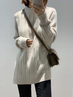 《巴黎拜金女》長款羊絨毛衣