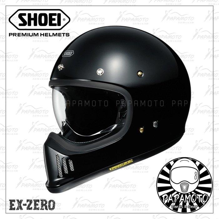 【趴趴騎士】SHOEI EX-ZERO 黑色 山車帽 復古越野安全帽