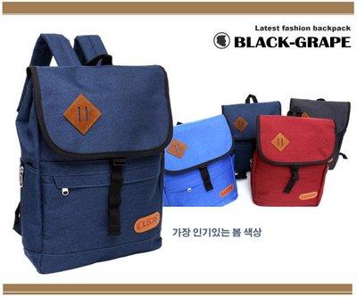 韓國帆布料豬鼻刷色背包 /後背包【3021】黑葡萄包包