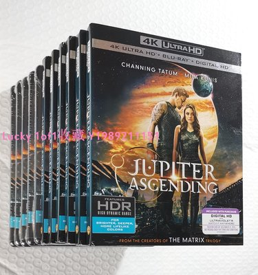 Lucky 1of1收藏正版藍光 Jupiter Ascending 木星上行 4K UHD 2碟中字紙套US