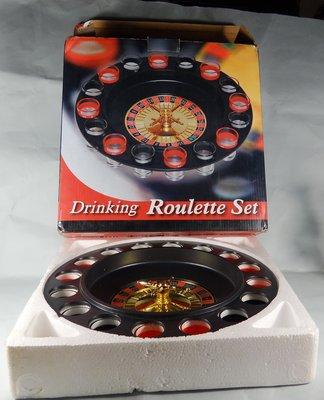 古玩軒~drinking roulette set~輪盤轉轉樂~俄羅斯轉盤黑色16孔酒杯~親朋好友娛樂