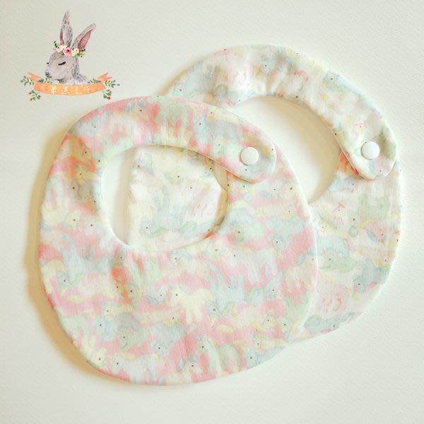 米咕手作 △ 寶寶六重紗 圍兜兜 / 口水巾 / 領巾 |獨角獸|