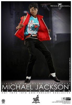 金錢貓雜貨 全新 HOT TOYS 12吋 MIS10 MJ MICHAEL JACKSON 麥可傑克森 BEAT IT