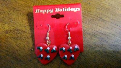 耶誕節派對愛心耳環