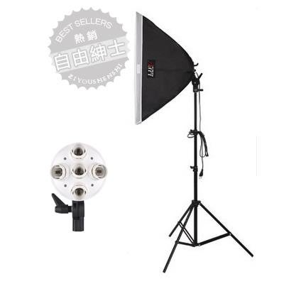 五聯燈柔光箱 2米燈架套裝 攝影燈棚常亮補光燈拍照器材wy