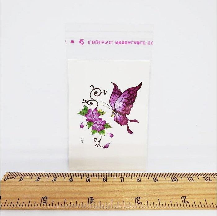 【萌古屋】花朵蝴蝶單圖329 - 男女防水韓風簡約紋身貼紙刺青貼紙K13