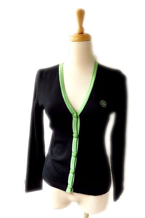 *Beauty*CLATHAS黑色絲邊長袖針織衫38  號  3500元PH