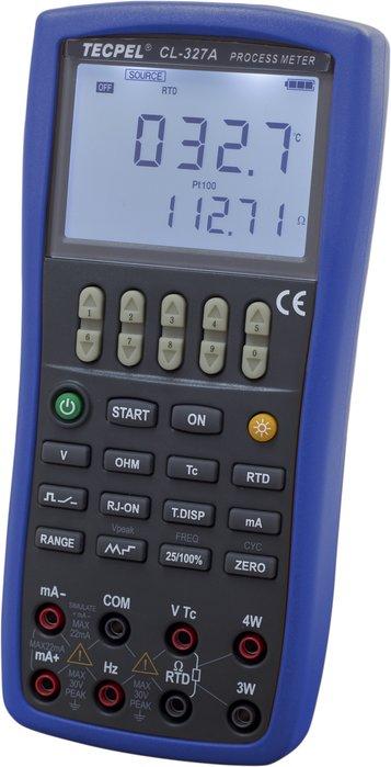 TECPEL 泰菱 》CL-327A 程控溫度 PT100 校正儀 校正器  程控校正器 新品上市!
