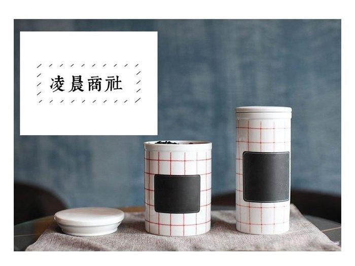 凌晨商社 // 北歐 工業風格 loft 紅白格 黑板 瓷罐 儲存罐 咖啡罐 茶葉罐 zakka 雜貨 膠囊咖啡收納