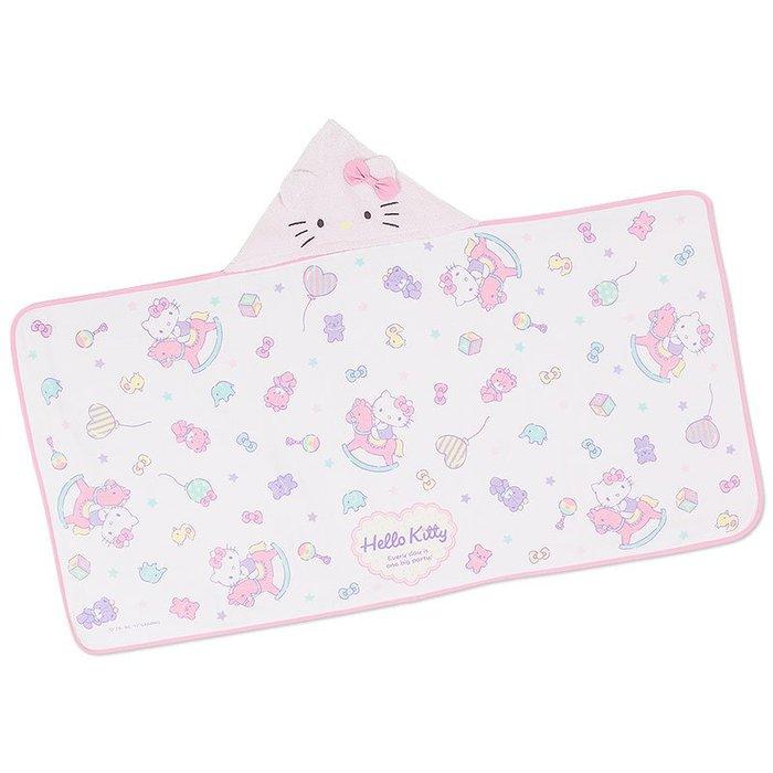 Hello Kitty 凱蒂貓 總線雨披(嬰兒)包巾 美樂蒂 兩款可選 小日尼三 日本帶回商品 初生兒 滿月最佳禮物