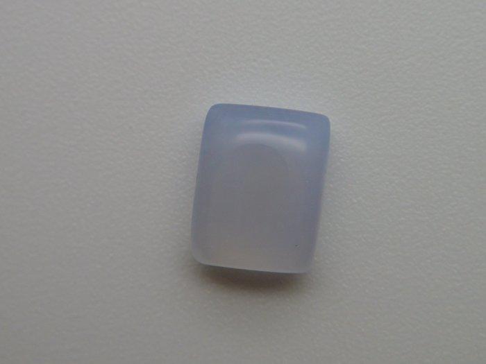 天然 酒精藍玉髓(酒精藍寶)Blue Chalcedony 方型蛋面 裸石戒面   2.48CT