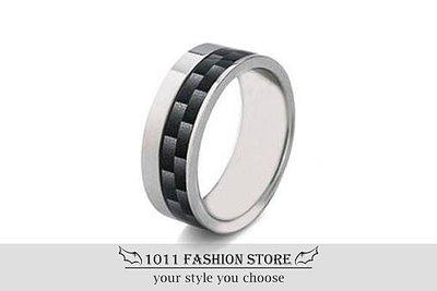 韓國 男性 女性 西德鋼 鈦鋼 3D CARBON 卡夢 反光 戒指 鋼戒 不鏽鋼 黑色空間 情侶對戒 情人對戒