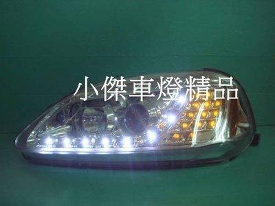 ☆小傑車燈家族☆全新超炫外銷高亮度喜美k8 96 99年晶鑽R8燈眉魚眼大燈+LED方向燈