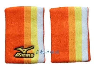 貳拾肆棒球--限定品!日本帶回Mizuno pro 職業用護腕一支/橘色