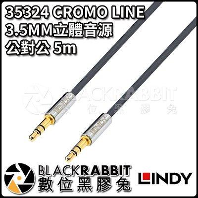 數位黑膠兔【 LINDY 林帝 35324 CROMO LINE 3.5MM立體音源 公對公 5m 】