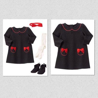 美國GYMBOREE正品 Scalloped Trim Dress蝴蝶結連身裙洋裝12~18m.18~24m.售490元
