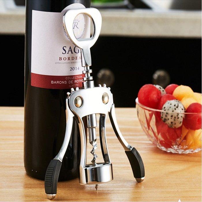 紅酒開瓶器葡萄酒鋅合金啟瓶器定制金屬 多功能手動開酒器開啤酒