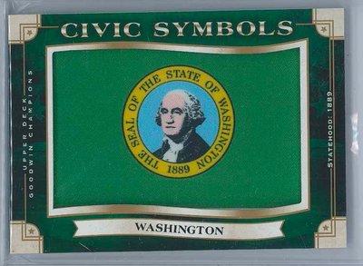 2019 Upper Deck Goodwin 國旗卡 華盛頓 Washington 1:660 Tier 3