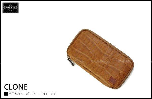 WaShiDa PLUS+【日本 吉田 PORTER × CLONE 皮革 系列 零錢包 長夾 錢包 L號 】- 預訂 572-09920